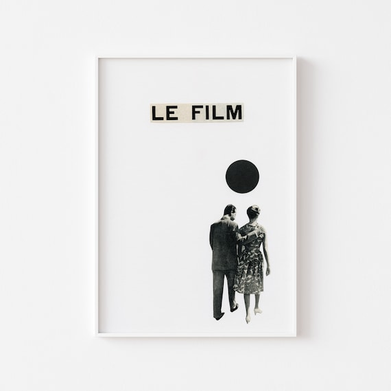 Film Poster, Movie Art Print, Romantic Wall Art - Le Film