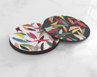 Colourful Coasters, Home Gifts, Tableware - Falling Leaves (Mix)