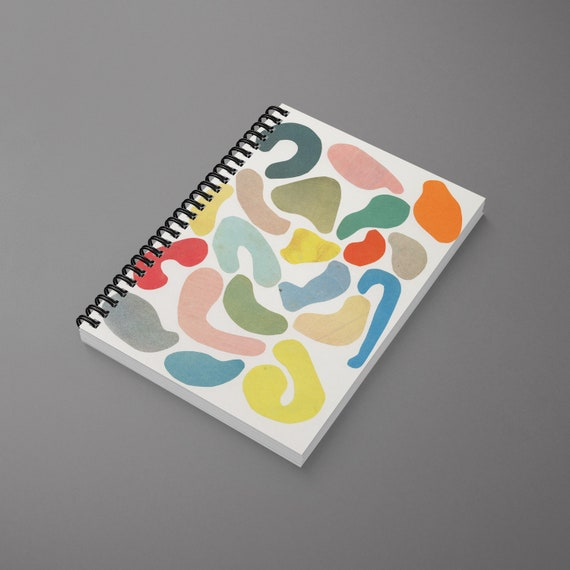Abstract Spiral Notebook - Organic