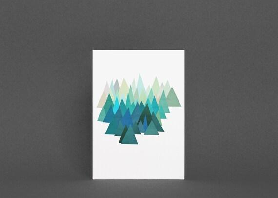 Blue Mountain Card - Cold Mountain