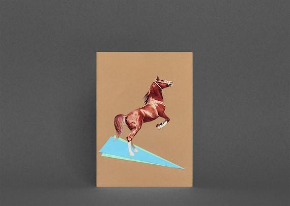 Horse Greetings Card - Western