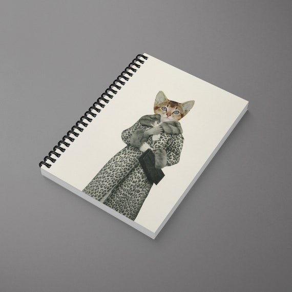 Cat Spiral Notebook - Kitten Dressed as Cat