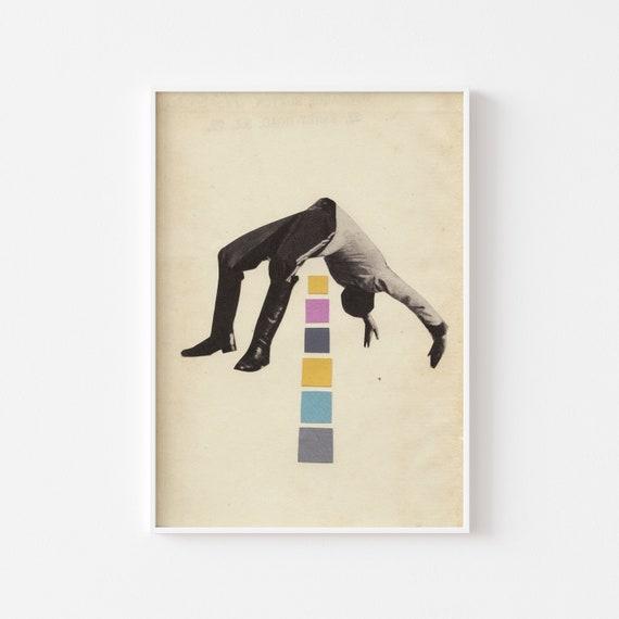 Sports Wall Art, Male Figure, Pop Surrealism - High Jump