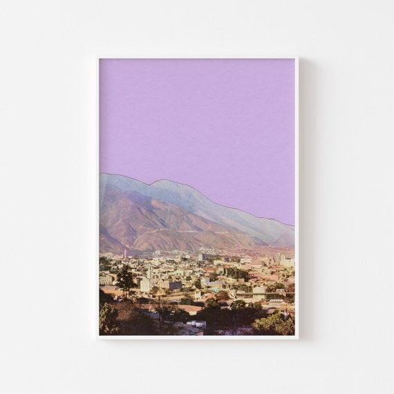 Mountain Art, Purple Wall Art, Modern Wall Art, Lilac Decor - Lilac Skies