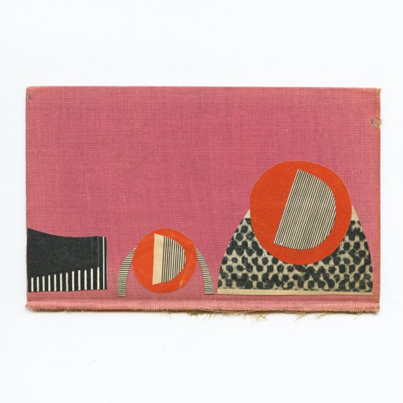 Original Abstract Collage Art on Book Cover - Sound Mirror