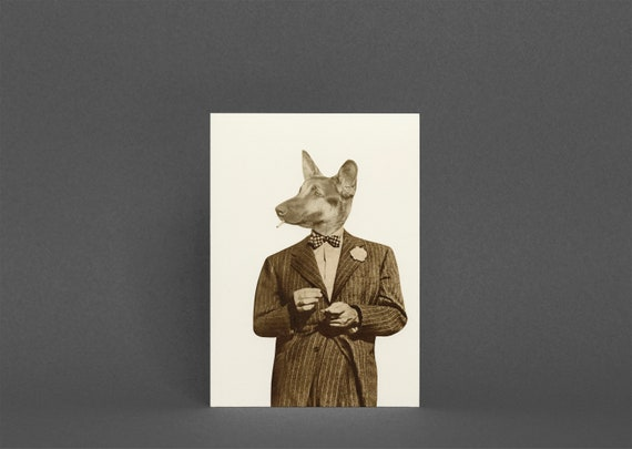 Dog Greetings Card - Play it Cool, Play it Cool