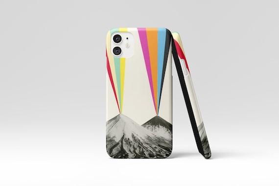 Rainbow Phone Case, Volcano Device Cover, iPhone, Samsung Galaxy - Volcanos