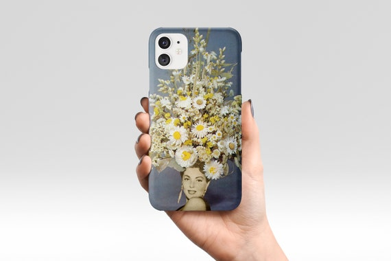 Floral Phone Case, Blue Flower Device Cover, iPhone, Samsung Galaxy - Floral Fashions