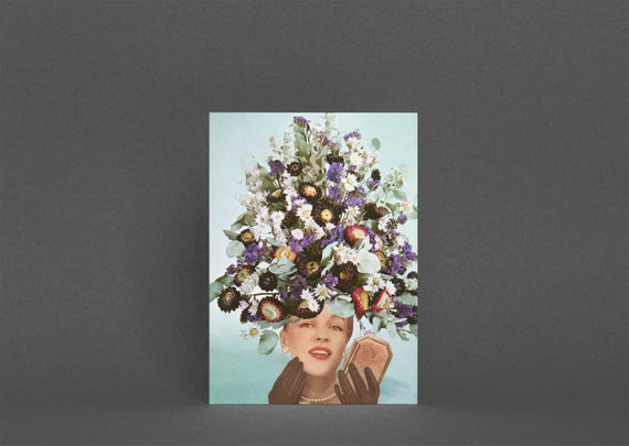 Flower Card for Girlfriend, Birthday Card for Her - Floral Fashions III