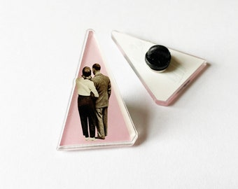 Pink Acrylic Pin Badge, Stocking Stuffer - It's Just You and Me, Baby
