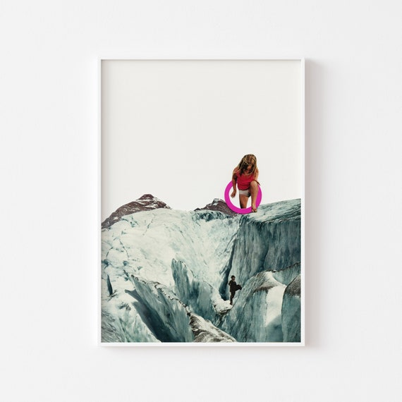 Mountain Print, Surreal Wall Art, Large Wall Art - Another World