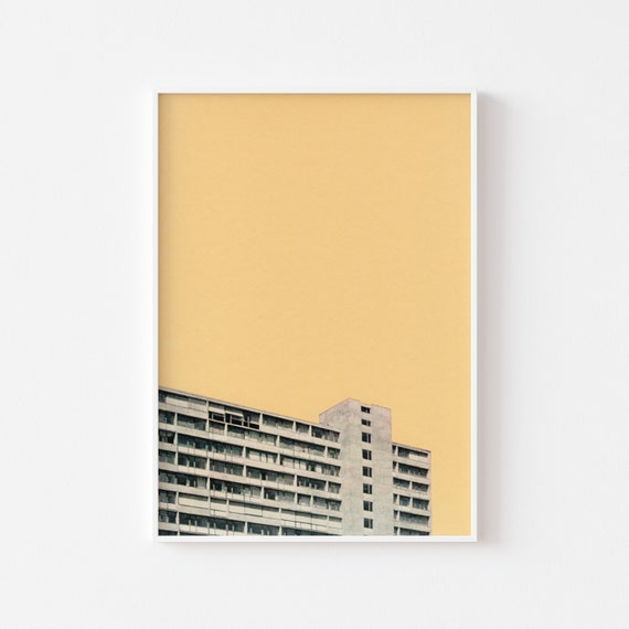 Modernist Art, Architecture Print, City Art - Hot in the City
