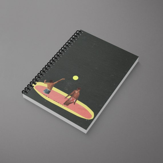 Retro Spiral Notebook - Pool Games