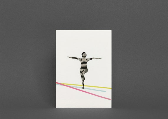 Abstract Portrait Art Card - The Bold and the Bright