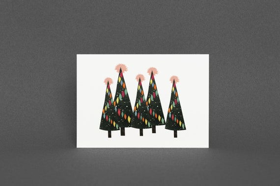 Christmas Card Pack, Blank Greetings Card - Christmas Forest