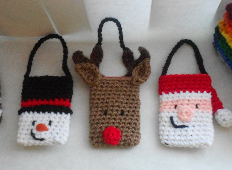 image 0 ... & Christmas Gift Card Holder and Ornament Set Crochet Pattern | Etsy
