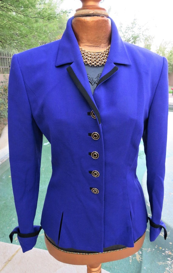 Vintage Louis Feraud Purple Blazer Jacket Size 6