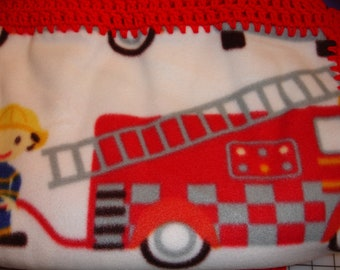 Fireman Theme Fleece Throw