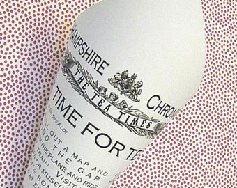 British Tea Party Food Cones / Newspaper Cones / London Party / Print & Shipped OR DIY Digital File