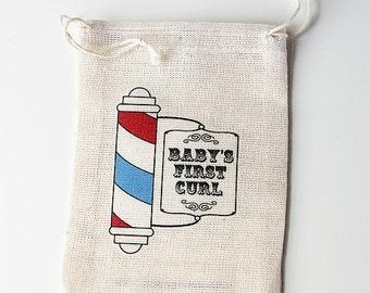 First Hair Cut Keepsake : Baby's First Curl Keepsake Pouch & Haircut Certificate