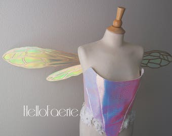 Large Hornet wings Metal Wings Cosplay Iridescent fairy wings Made to Order