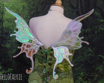 Small Silver and Pale Blue Willow Wings Fantasy Fairy Wings Made to order