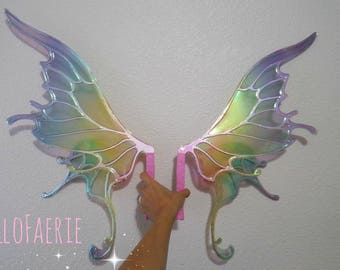 Rainbow Medium size Willow Wings Fantasy Fairy Wings Made to Order