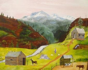 The Homestead -folk art painting