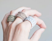Crochet ring. Bridesmaid gift. Gifts for Bachelorette Party. Choose your color.  Lightweight and adaptable to the finger. Antialergic ring.