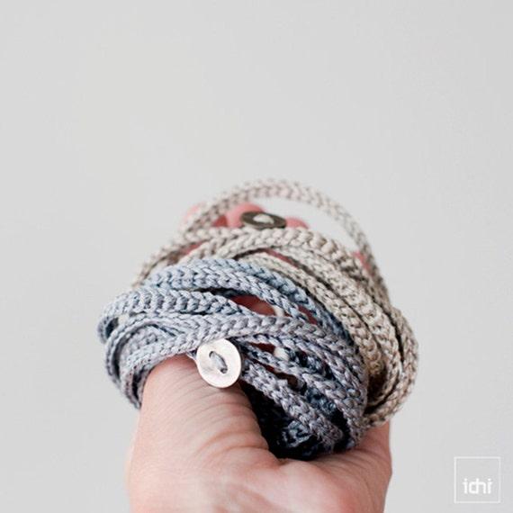 Joyería Textil. Pulsera y Collar de Ganchillo en una sola | Etsy
