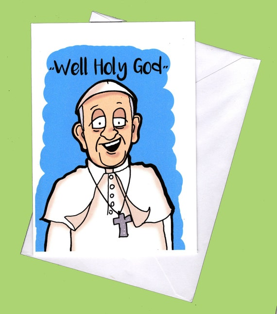 Pope Francis Pope Card Religious Greeting Card Pope Pope