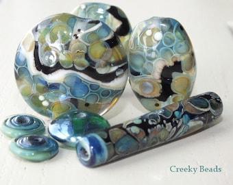"Handmade Lampwork beads ""Bead Mix"" Creeky Beads SRA"