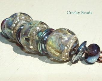 "Handmade Lampwork beads ""Subtle Shades"" Creeky Beads SRA"