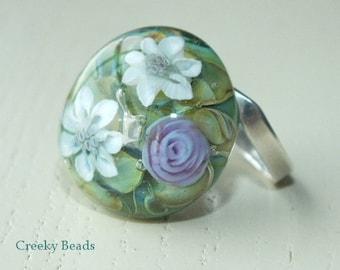 Handmade Lampwork Interchangeable Ring Topper - Creeky Beads SRA