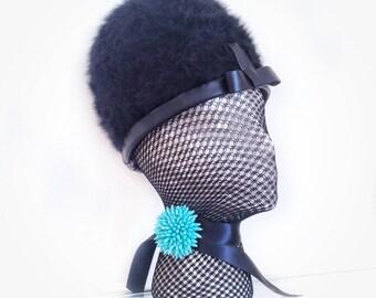 b30f2c606e7 60s mod hat   vintage helmet hat   vintage bobble hat