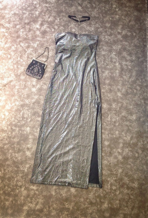 80s gown / Marilyn Monroe / strapless prom gown
