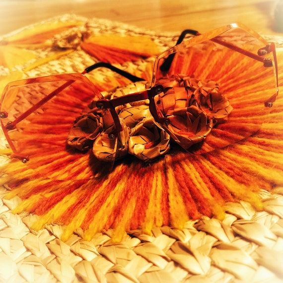 mod red sunglasses / metal frame sunglasses / 60s… - image 7