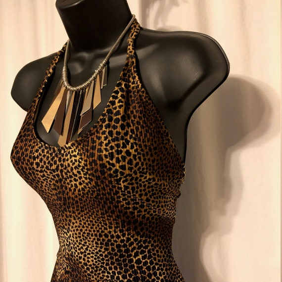 vintage leopard bathing suit / catalina animal pri