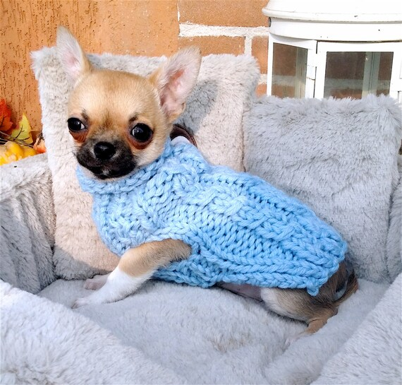 Chihuahua coat Puppy Sweater Pets clothing fashion Blue Puppy coat Small dog sweater Knit Chihuahua sweater Small dog coat Gift for pets