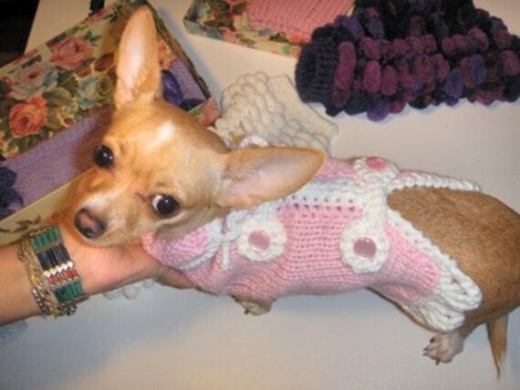 Rosa Chihuahua Mantel Stricken Pullover Chihuahua Kleine Etsy
