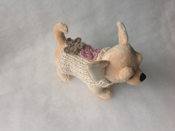 Weiß Alpaka Chihuahua Mantel Stricken Pullover Kleine Hunde Etsy