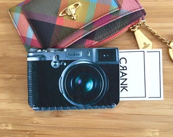 Camera Bus Pass Holder,Business Card Case, Oyster Card Holder Sleeve, Retro Camera Credit Card Case, Retro Camera Case, Gift for Him