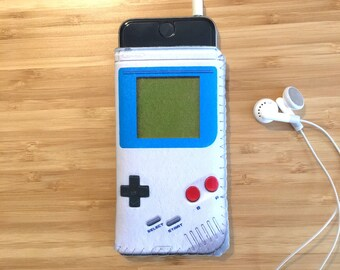 GameBoy iPhone Sleeve, iPhone 8 Case, iPhone 7 Case, iPhone 6S Case, iPhone 8 Sleeve, Retro Game Phone Case, Gift for Men, Gift for Teen