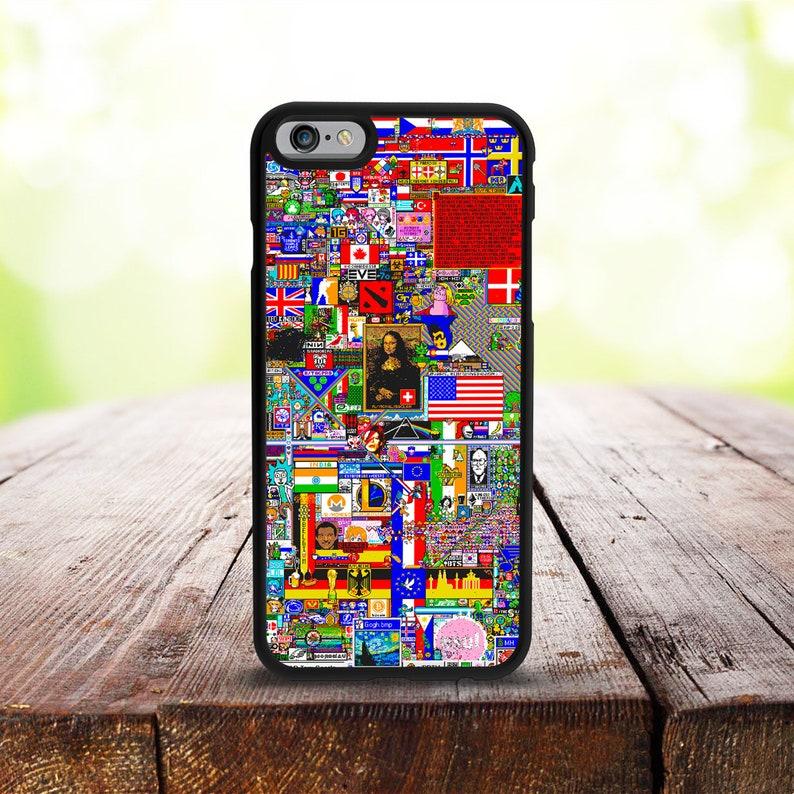 new product d682e 165de Reddit r/place iPhone X/XS Case, iPhone 7 Plus Case, iPhone 7 Case, iPhone  6 Case, iPhone 6 Plus Case, iPhone SE Case