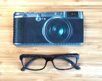 Retro Camera Glasses Case, Camera Reading Glasses Case, Soft Glasses Case,Glasses Sleeve, Gift for Men, Gift for Photographer