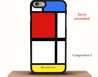 Personalised Mondrian iPhone X Case, iPhone 8 8 Plus Case, iPhone 6 6S Case, iPhone 7 7 Plus Case, iPhone 6 Plus Case, iPhone 5/5S/5C Case