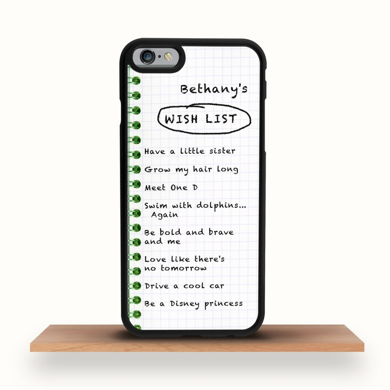 huge selection of b9f08 8b7a9 Personalised Wish List iPhone X/XS/XS Max Case, iPhone 8/8 Plus Case,  iPhone 7/7 Plus Case, iPhone 6/6S Case, 6 Plus Case, iPhone SE Case