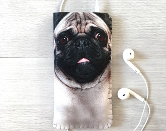 Cute Pug Samsung Galaxy S8 Case, Samsung Galaxy S7 Case, Samsung Galaxy S6 Case, Samsung Galaxy S6 Edge and S7 Edge Case,Gift for Dog Lovers