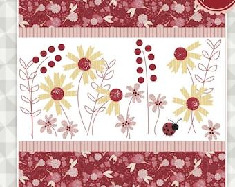 Instant Download- Little Ladybug Quilt Pattern. Ladybug Mania Fabric. meags & me quilt pattern. Ladybug quilt pattern. Floral