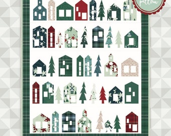 Instant Download: Winter Wonderland Quilt Pattern. Yuletide by meags & me.  Christmas Pattern. Applique and Embroidery. Modern Applique